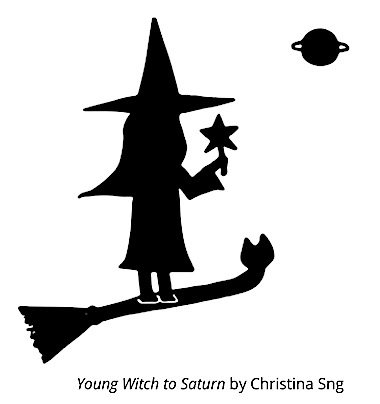 Young Witch to Saturn by Christina Sng
